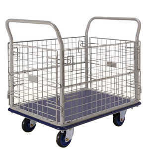 Prestar Medium Caged Trolley with Folding Mesh Sides NF307