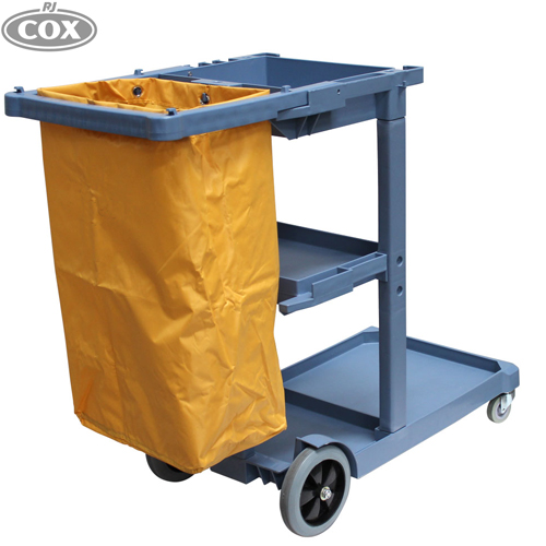 Janitor Cart Clearing and Waste Collection Trolley