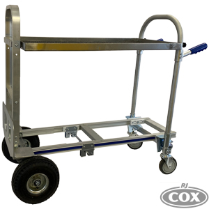 Film Cart with Shelf on Convertible Hand Truck