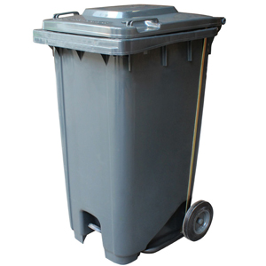 Compass 240 Litre Mobile Bin with Pedal Operated Lid