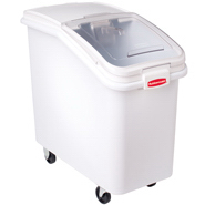 Rubbermaid 3600-88 Ingredient Mobile Bin with Sliding Hinged Lid
