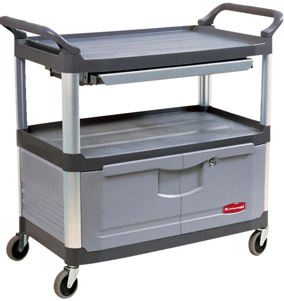 Rubbermaid 4094 Instrument Cart Lockable Doors And Drawers