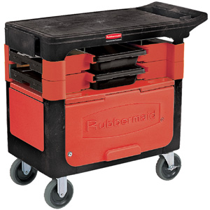 Rubbermaid 6180-88 Trades Cart with Locking Cabinet