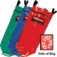 Rubbermaid 9T93-01 Recycling Bag with Universal Recycling Symbol - Set of 3 Colours (Red, Green, Blue)