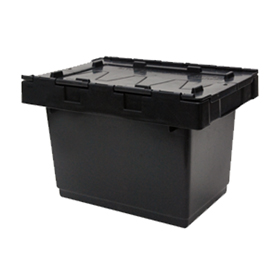 Recycled 34L Security Crate with attached Lid