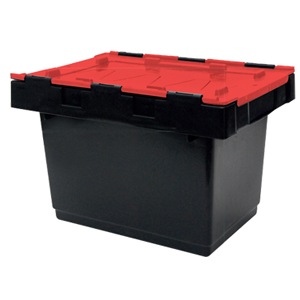 Half Size Security Crate with Hinging lockable lid