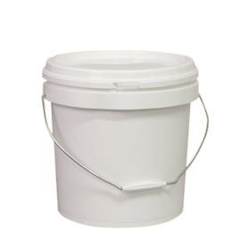 Plastic Pails with Lids and Handles