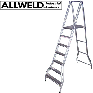 Allweld Folding Platform Ladder - Heavy Duty 200kg Rating