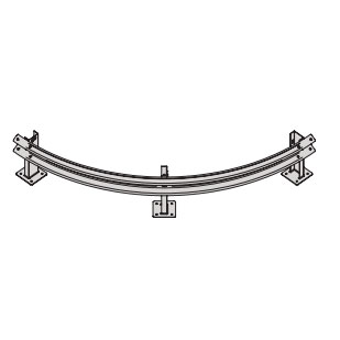 W-Beam Curved Rails Guard Fence (TYPE D)