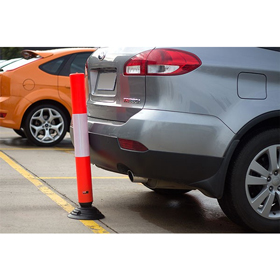 Two Piece Knockdown Plastic Bollard
