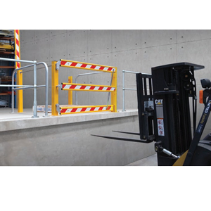 Mezzanine Forklift Safety Gates Safe Loading Unloading