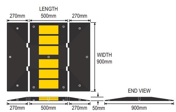 Traffic Calming Rubber Speed Hump