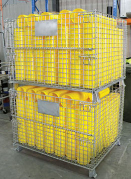 Collapsible Mesh Storage Cage