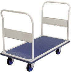 Prestar FL363 Large Double Push rail Flat Bed Platform Trolley 300kg capacity
