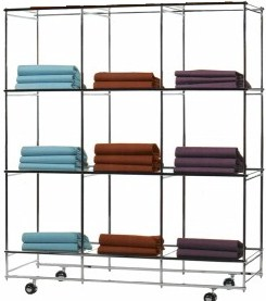 Folding Cube Mobile Garment Holder - Garment Display Trolley