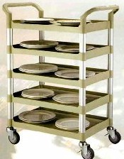 Rapini Small 5 Tier Utility Cart Traymobile Multiple Shelf Service Trolley