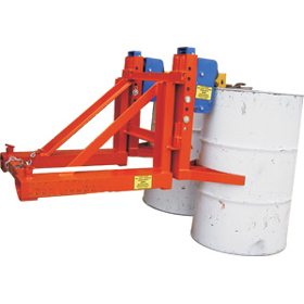 Grab-O-Matic Drum Lifting Forklift Attachment