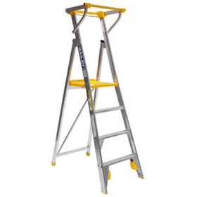 Bailey Pro 170kg Platform Step Ladder fitted with Safety Gate