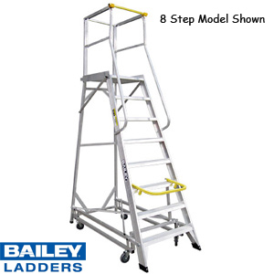 Bailey Ladderweld Professional Deluxe Order Picker Stock Picking Platform Ladders