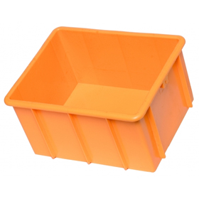 Dip Bin Plastic Container - Solid or Vented Bases