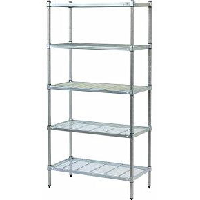 Mantova Post Style Shelving with Wire Grid Shelves