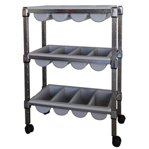 Mobile 3 Tier Cutlery Trolley