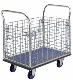 Prestar NF307 Platform Flat Bed  Trolley with mesh sides 300kg Capacity