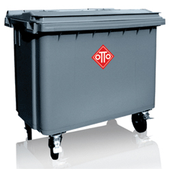 4 Wheel Waste Container Commercial Mobile Garbage Bins