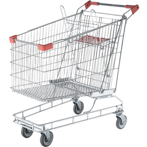 165 Litre Zinc Coated Shopping Trolley
