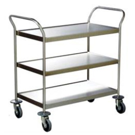 High-quality stainless steel 3 Deck Clearing Trolley