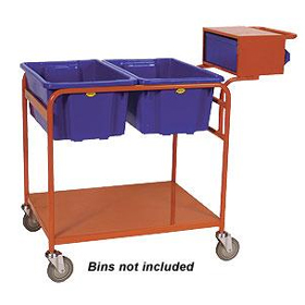 Twin Bin Order Picker Trolley with Console Binmate