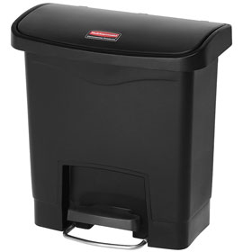 Rubbermaid 15L Slim Jim Resin Front Step-on Containers