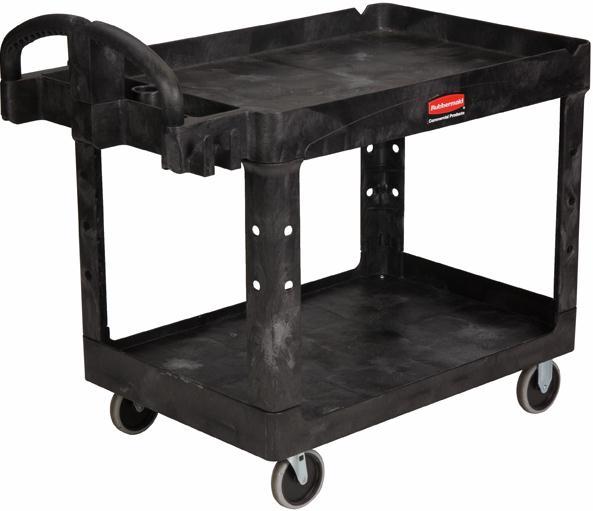 Rubbermaid 4520 Tool Cart Utility Trolley Heavy Duty Shelf