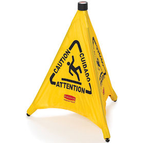 Rubbermaid Pop-Up Safety Cones Wet Floor
