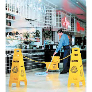 "6114-77 Floor Sign with ""Caution Wet Floor"" Imprint, 4-Sided"