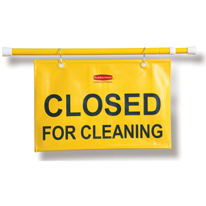 Rubbermaid Doorway Hanging Sign with Closed for Cleaning