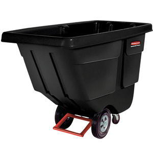 Rubbermaid 400 Litre Tilt Truck / Rubbish Trolley Cart FG130400BLA