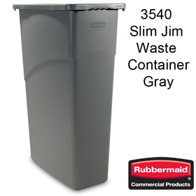 Rubbermaid 3540 87 Litre Slim Jim Containers