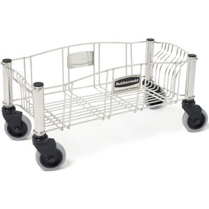 Rubbermaid 3553 Slim Jim Stainless Steel Dolly for Slim Jim Containers