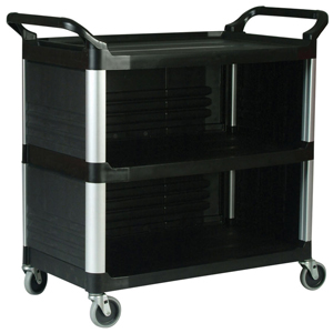 Rubbermaid 4093 Xtra Utility Cart with 3 Enclosed Sides