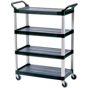 Rubbermaid 4096 X-Tra Utility 4 Shelf Cart