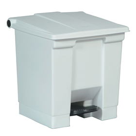 Rubbermaid 6143 White Step On Container
