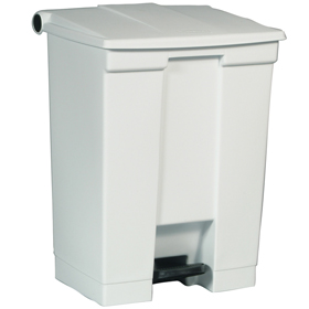 Rubbermaid 6145 White Step on Container