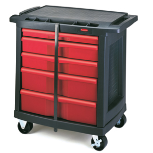 Rubbermaid 5-Drawer Mobile Work Centre Cart