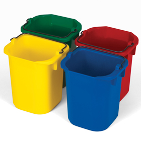 Rubbermaid 9T83 4.8lt bottle caddie set of 4 colours