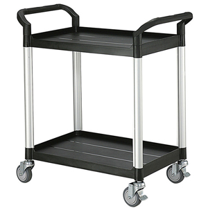 Rapini Small 2 Tier Utility Cart Traymobile Multiple Shelf Service Trolley
