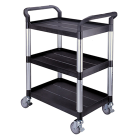 Small 3 Tier Utility Cart Traymobile Multiple Shelf Service Trolley