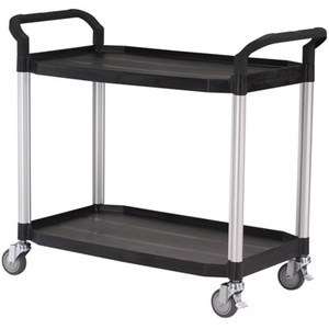 Utility Cart Large 2 Tier Traymobile Service Trolley