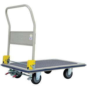 Jumbo Platform Trolley With Foot Operated Brake System