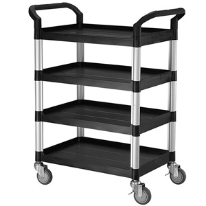 Rapini Small 4 Tier Utility Cart Traymobile Multiple Shelf Service Trolley